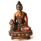 Medizinbuddha 11,5 cm Buddha Statue bemalt