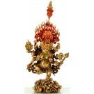 Akash-Bhairava 28 cm teil feuervergoldet Buddha Statue
