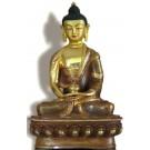 Amitabha  19 cm teilfeuervergoldet Buddhastatue