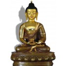 Amitabha 32 cm teilfeuervergoldet Buddhastatue