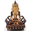 Amitayus - Aparimita  15,5 cm teil feuervergoldet Buddha Statue