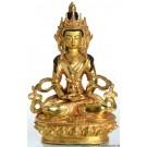 Amitayus- Aparimita  22 cm voll feuervergoldet Buddha Statue