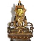 Amitayus - Aparimita 22 cm teil-feuervergoldet Buddha Statue