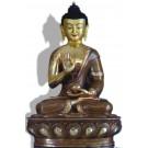 Amoghasiddhi 32 cm teilfeuervergoldet Buddha Statue