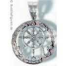 Silberschmuckanhänger Dharmachakra 25 mm