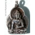 Silberschmuckanhänger Medizinbuddha 25 mm