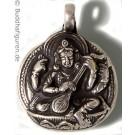 Silberschmuckanhänger Saraswati  25 mm