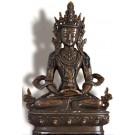 Aparimita - Amitayus 22 cm oxidiert Buddha Statue