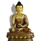 Akshobhya / Shakyamuni 32 cm teilfeuervergoldet Buddhastatue