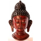 Buddha Maske 23 cm Resin braun