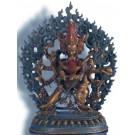 Chakrasamvara   18 cm oxidied Buddha Statue