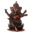 Ganesh Statue 10 cm Resin braun