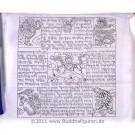 Gebetsfahnen  Baumwolle (25 Blatt) 12,5 m feine Qualität
