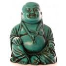 Lachender Buddha Statue 10 cm Resin türkis