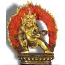 Jambhala stehend 17cm teilfeuervergoldet