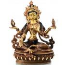 Lakshmi - Laxmi Statue 16 cm teilfeuervergoldet