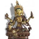 Lakshmi - Laxmi  21,5 cm teilfeuervergoldet