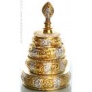 Mandala  versilbert/vergoldet