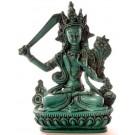 Manjushri Buddha Statue 15 cm türkis Resin