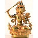Manjushri 21 cm vollfeuervergoldet Buddha Statue