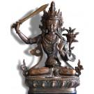 Manjushri 21 cm oxydiert Buddha Statue