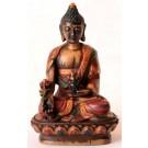 Medizinbuddha 9cm Buddha Statue bemalt