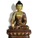 Medizinbuddha 32 cm teil feuervergoldet Buddha Statue