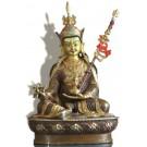 Padmasambhava 22 cm teilfeuervergoldet