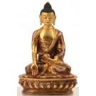 Ratnasambhava Buddha Statue 15 cm teilfeuervergoldet