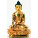 Ratnasambhava 20 cm volllfeuervergoldet Buddha Statue