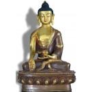 Ratnasambhava 20 cm teil-feuervergoldet Buddha Statue