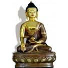 Ratnasambhava 32 cm teil-feuervergoldet Buddha Statue