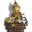 Saraswati 21 cm teil-feuervergoldet Buddha Statue