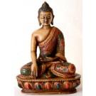 Akshobhya / Shakyamuni 13,5 cm Buddha Statue Resin bemalt