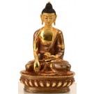 Akshobhya / Shakyamuni 15 cm teilfeuervergoldet Buddhastatue