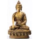 Akshobya / Shakyamuni 20 cm Messing mit Buddhas Life