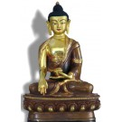 Akshobhya / Shakyamuni 19 cm teilfeuervergoldet Buddhastatue
