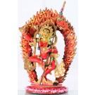 Vajravarahi rot 20 cm feuervergoldet Statue