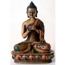 Vairocana Buddha Statue 13,5 cm Resin bemalt