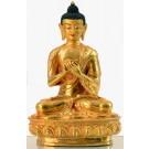 Vairocana 20 cm vollfeuervergoldet Buddhastatue