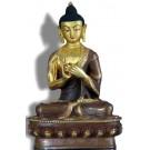 Vairocana 21 cm teilfeuervergoldet Buddha Statue