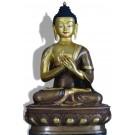 Vairocana 32 cm teilfeuervergoldet Buddha Statue