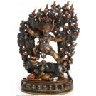 Vajrabhairava - Yamamtaka Statue 23 cm zweifarbig