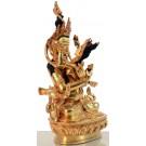 Vajradhara-Prajnaparimita 22 cm vollfeuervergoldet Buddha Statue