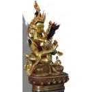 Vajradhara-Shakti  23,5 cm feuervergoldet Buddha Statue