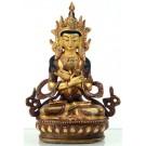 Vajradhara 15 cm teilfeuervergoldet Buddha Statue