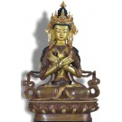 Vajradhara 21,5 cm feuervergoldet Buddha Statue