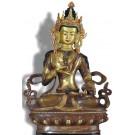 Vajrasattva 21 cm teilfeuervergoldet Buddha Statue