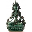 Vajrasattva 15,5 cm Buddha Statue Resin türkis