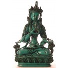 Vajrasattva 20 cm Buddha Statue Resin türkis